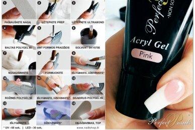 Akrilo gelis Clear PolyGel | 30 ml 2