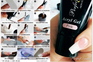 Akrilo gelis White PolyGel | 30 ml 2