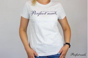"""Marškinėliai """"Perfect Nails Light Gray"""""""