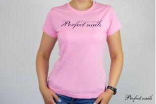 """Marškinėliai """"Perfect Nails Pink"""""""