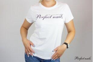 """Marškinėliai """"Perfect Nails White"""""""