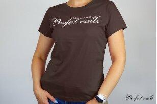 """Marškinėliai """"Perfect Nails Dark Chocolate"""""""
