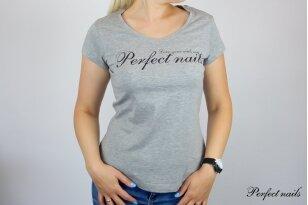"""Marškinėliai """"Perfect Nails Gray"""""""