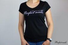 """Marškinėliai """"Perfect Nails Black"""""""