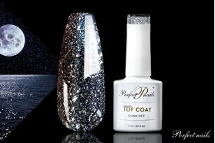 UV/LED gelio lako viršutinis sluoksnis ''Moon Top Coat'' | 7 ml