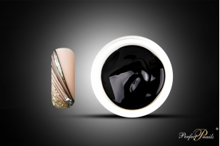 "UV/LED gelis nagų dizainui ""Liner-Spider Gel Black""   5g"