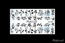 Vandeniniai lipdukai nagų dizainui | Art049