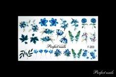 Vandeniniai lipdukai nagų dizainui | F203
