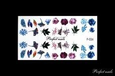 Vandeniniai lipdukai nagų dizainui | F026