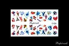 Vandeniniai lipdukai nagų dizainui   O026