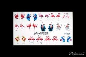 Vandeniniai lipdukai nagų dizainui | N021