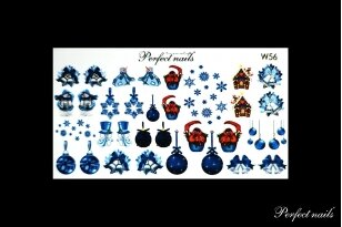Vandeniniai lipdukai nagų dizainui | W56