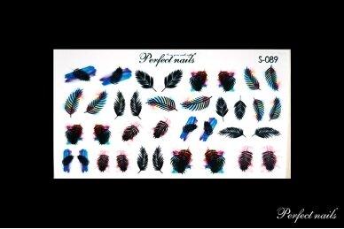 Vandeniniai lipdukai nagų dizainui | S089